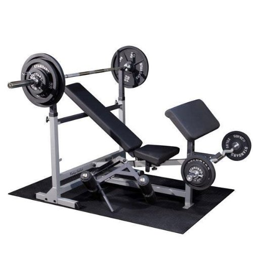Body Solid Gdib46lp Olympic Bench Package Includes Gdib46l Gpca1 An