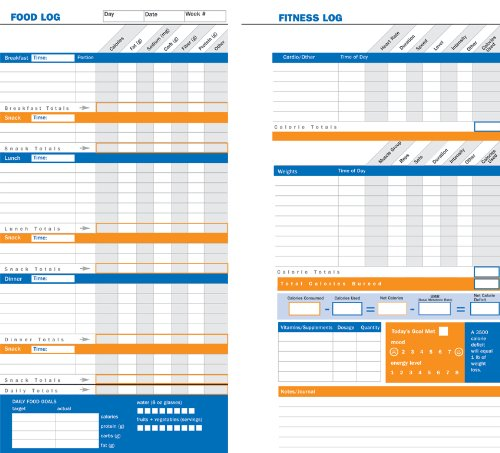 diet  u0026 fitness journal  your personal guide to optimum health  diary